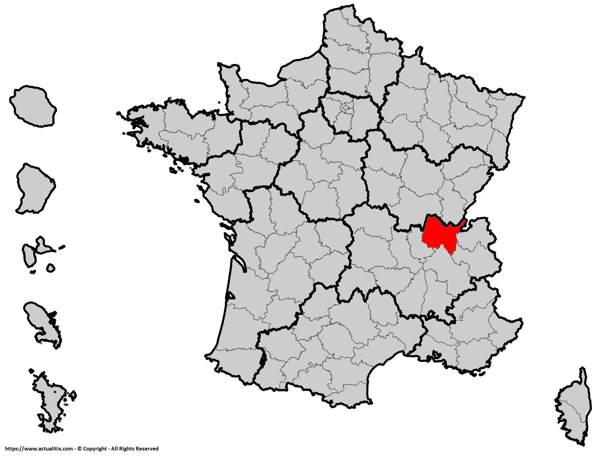 Où se trouve l'Aine en France ? Département 01