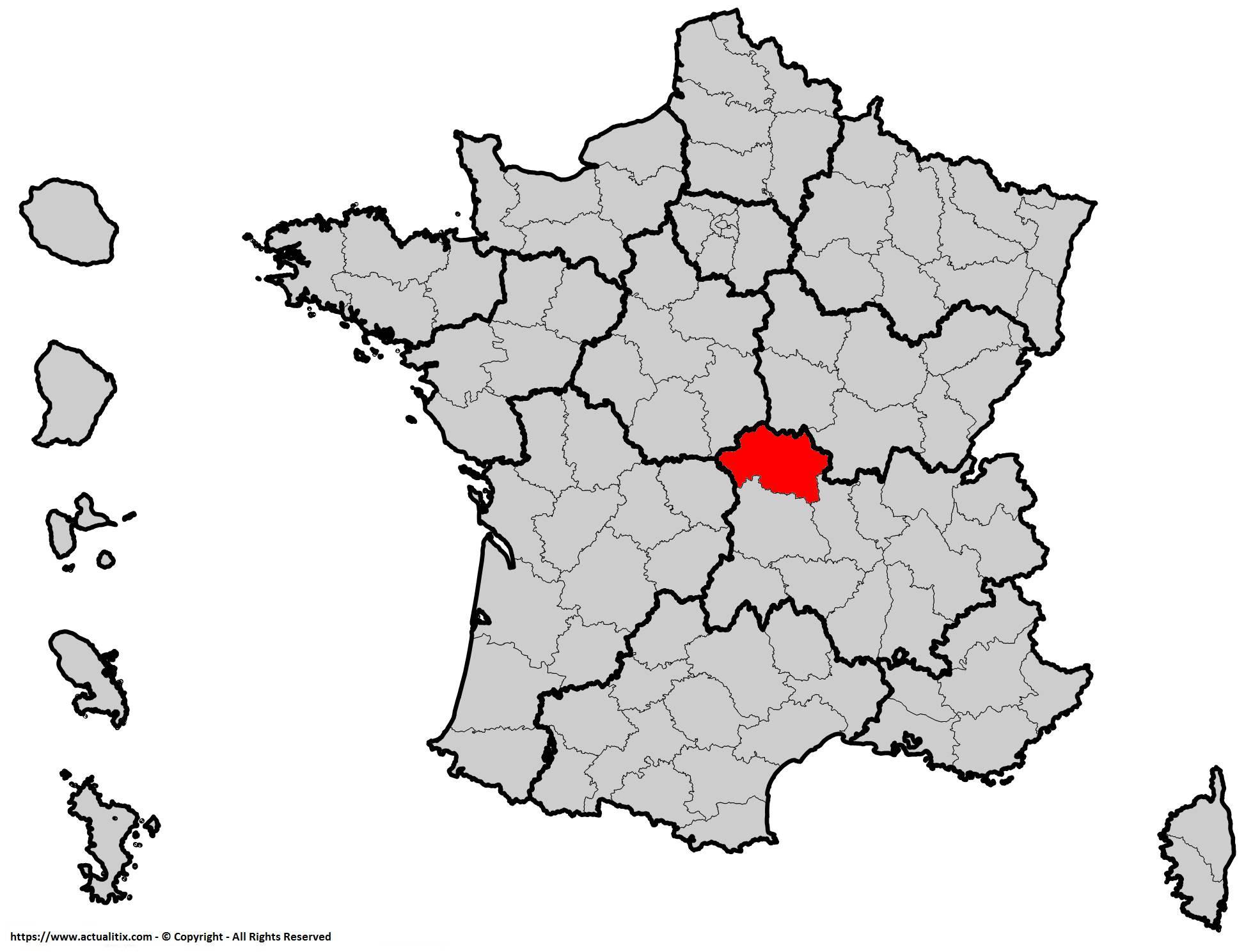 Où se trouve l'Allier en France ? Département 03
