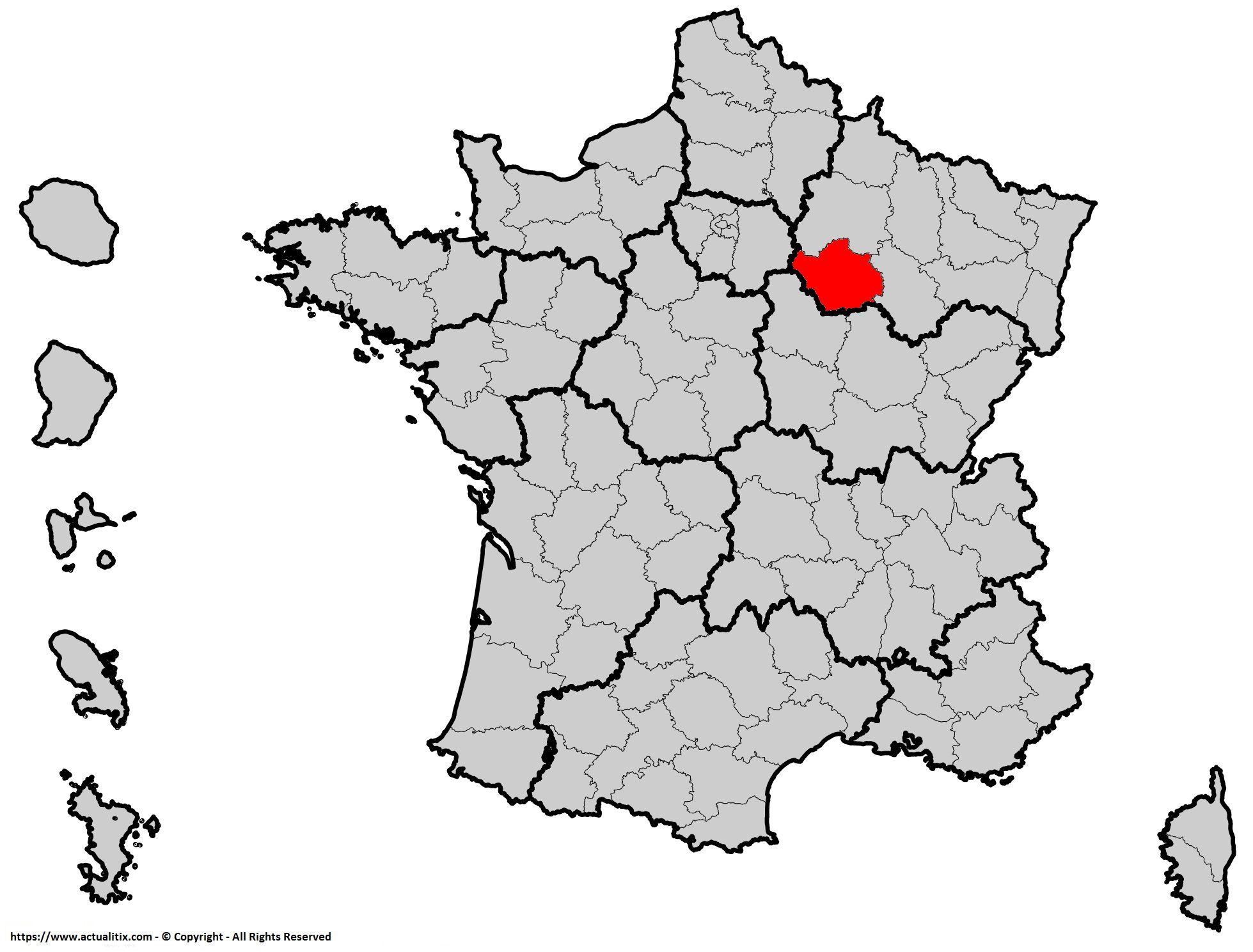 Où se trouve l'Aube en France ? Département 10
