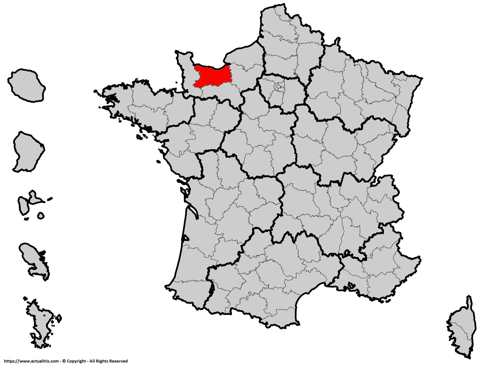Où se trouve le Calvados en France ? Département 14