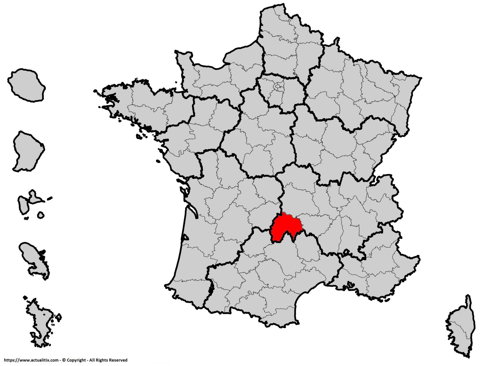 Où se trouve le Cantal en France ? Département 15