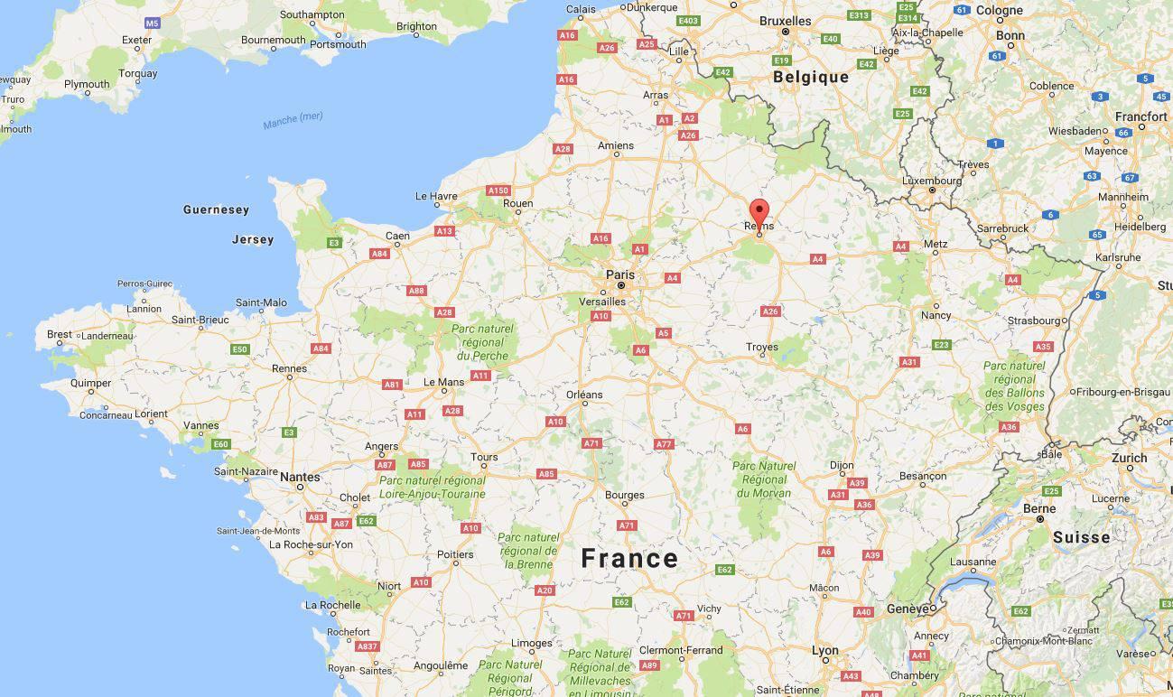 Où se trouve la Cathdrale de Reims en France ?