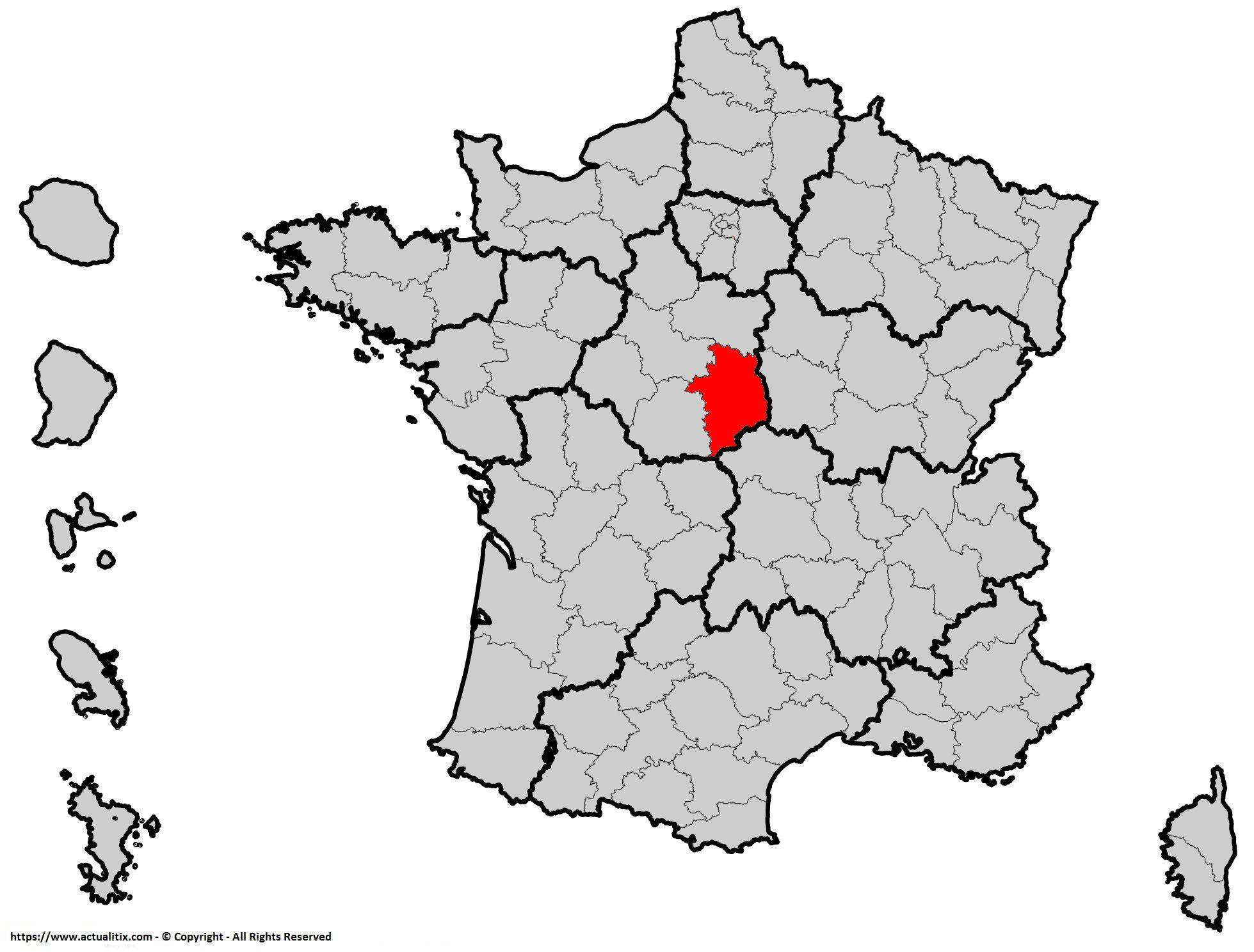 Où se trouve le Cher en France ? Département 18