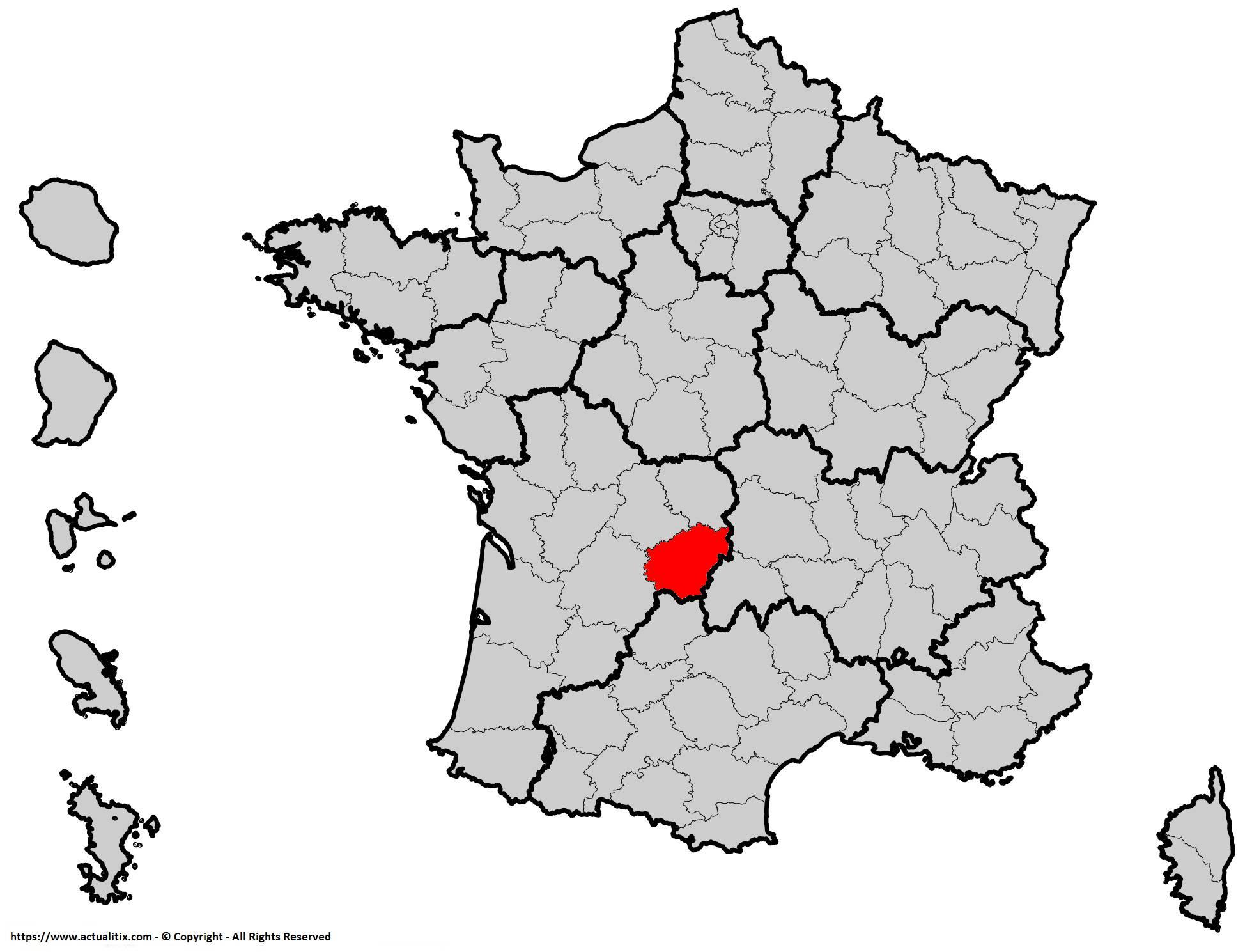 Où se trouve la Corrèze en France ? Département 19