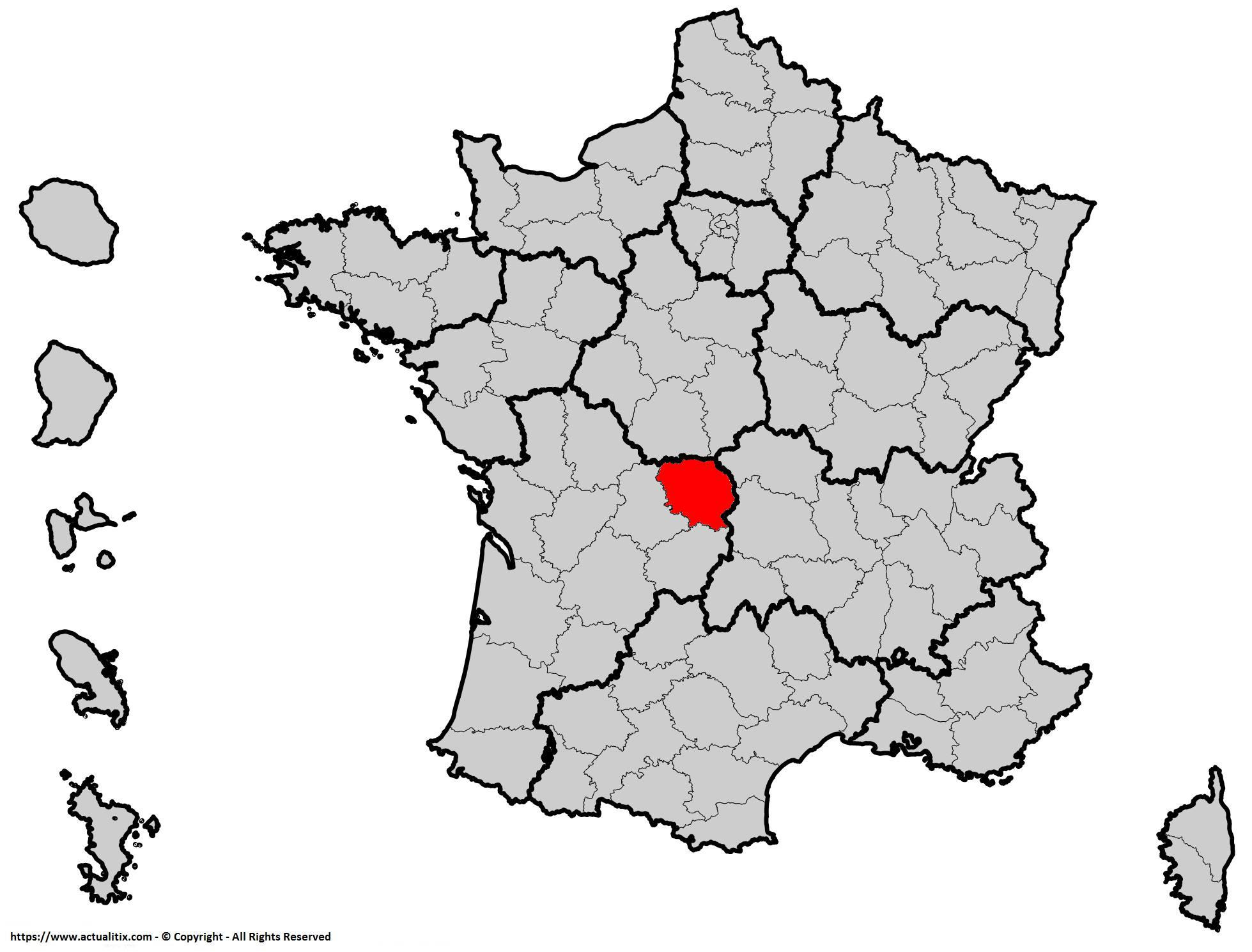 Où se trouve la Creuse en France ? Département 23
