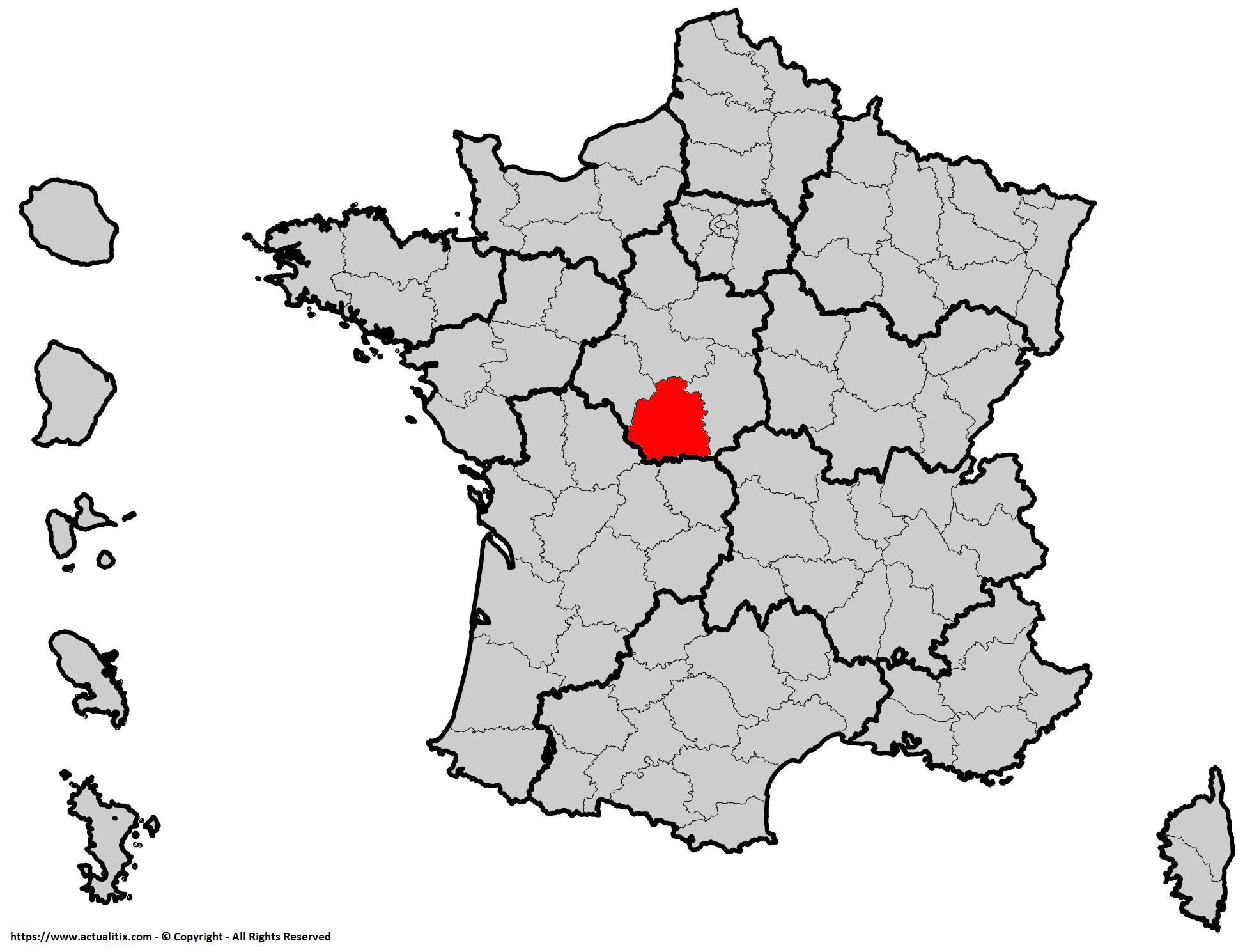 Où se trouve l'Indre en France ? Département 36