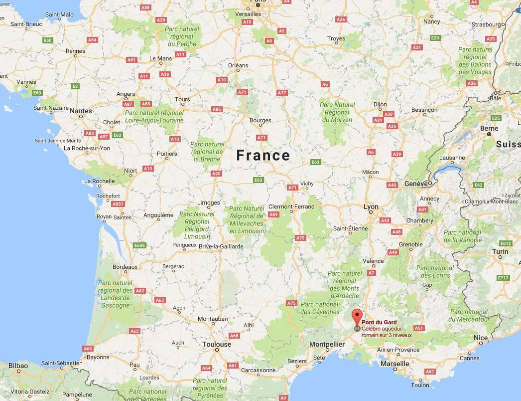 Où se trouve le Pont du Gard en France ?