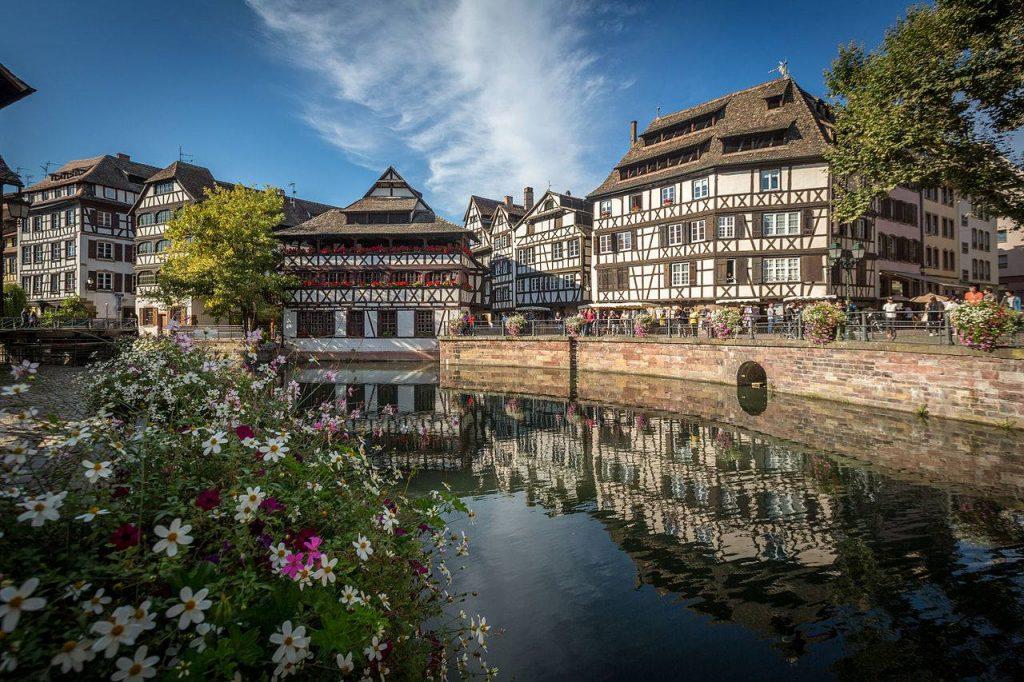 Petite France dans la Grand Île de Strasbourg