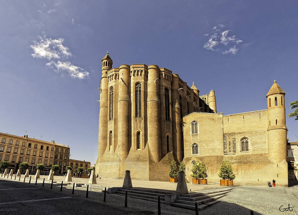 Vue arrière de la Cathédrale d'Albi