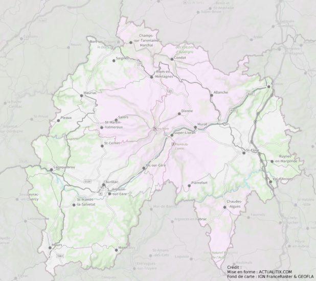 Carte du Cantal