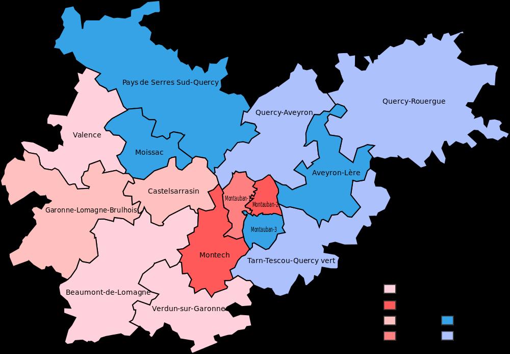 Carte des cantons du Tarn-et-Garonne
