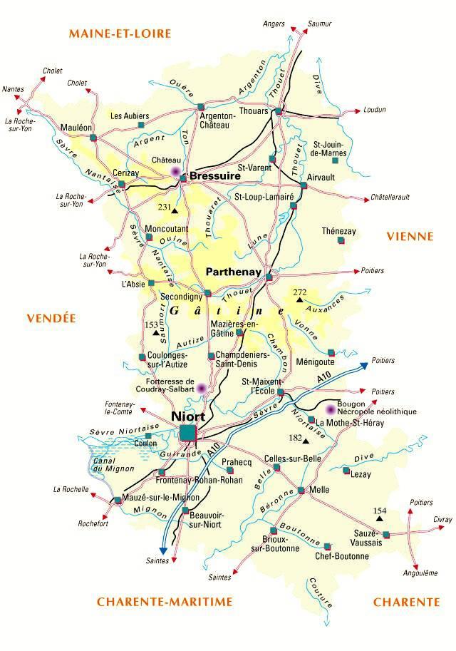 Carte des Deux-Sèvres - Politique