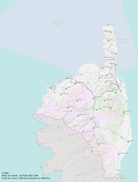 Carte de Haute-Corse