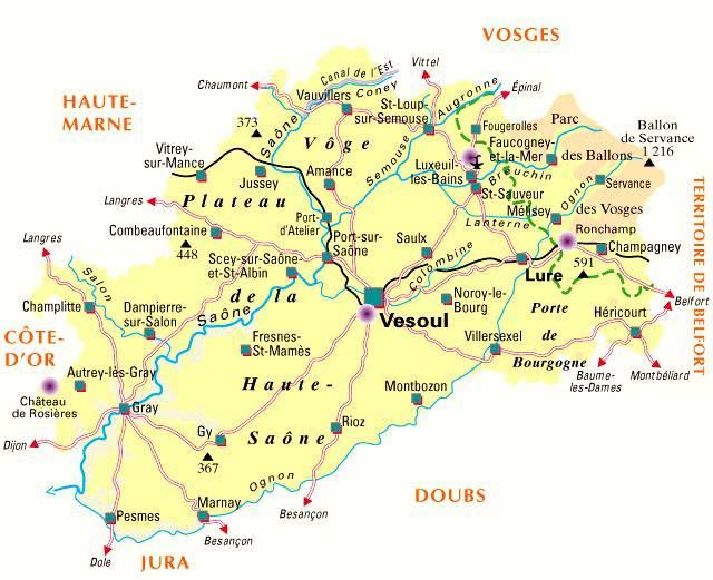 Carte de la Haute-Saône - Politique