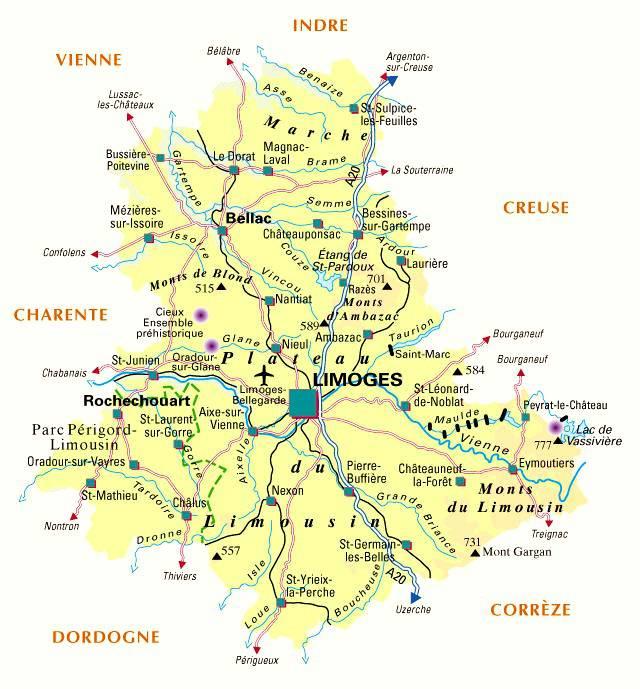 Carte de la Haute-Vienne - Politique