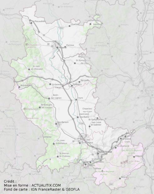 Carte de la Loire (département)