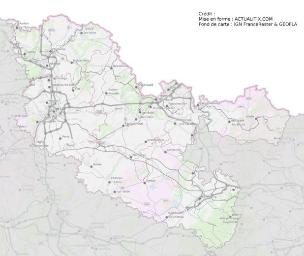 Carte de la Moselle