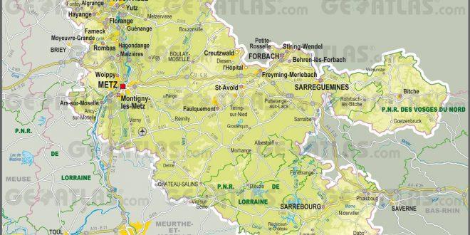 Carte de la moselle moselle carte du d partement 57 villes tourisme - Office du tourisme moselle ...