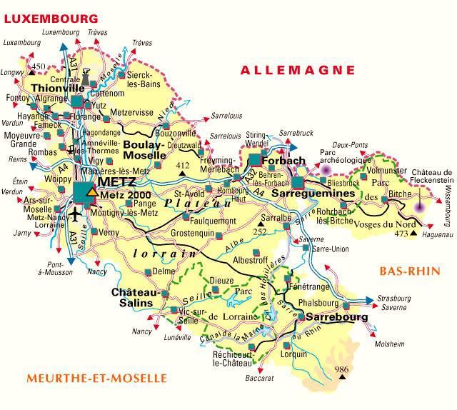 Carte de la Moselle - Politique
