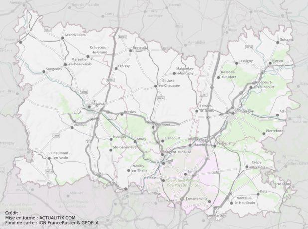 Carte de l'Oise