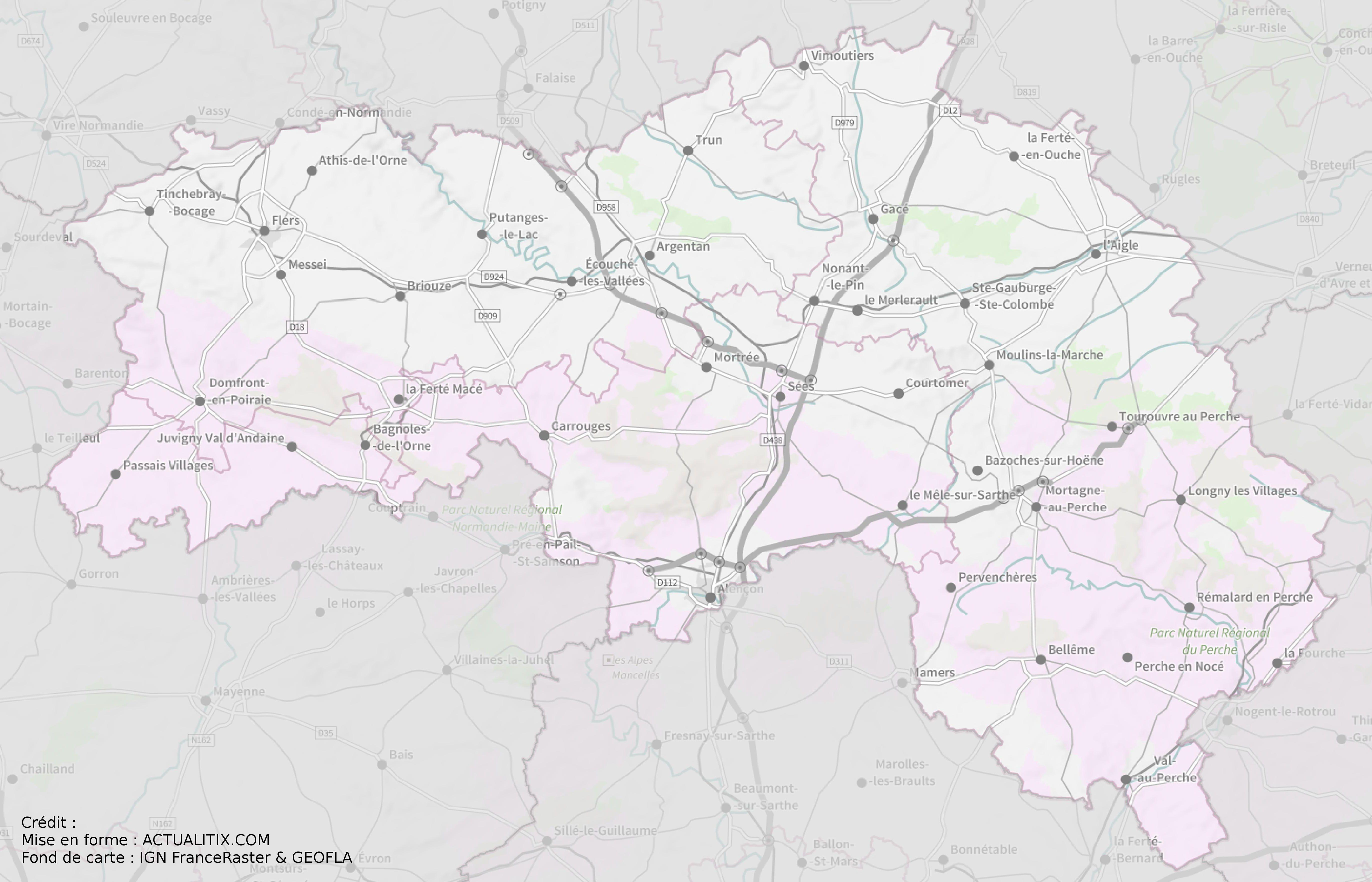 carte de l orne Carte de l'Orne   Orne carte du département 61   villes, sites