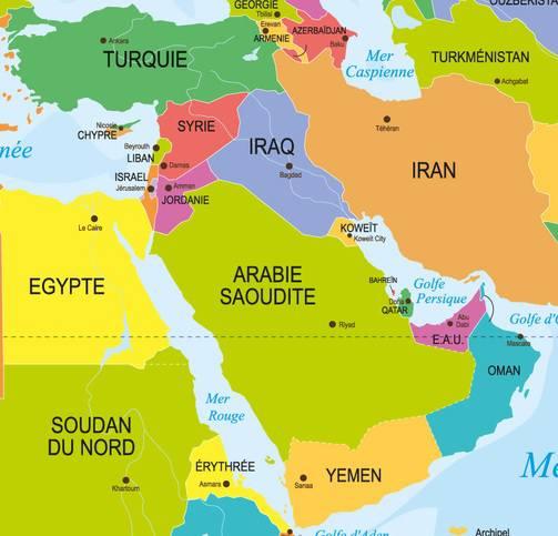 Carte Du Monde Orient.Carte Du Moyen Orient Proche Orient Decouvrir La Region