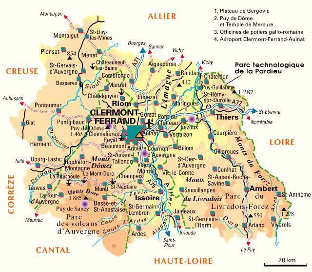 Carte du Puy-de-Dôme - Politique