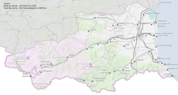 Pyrénées-Orientales carte