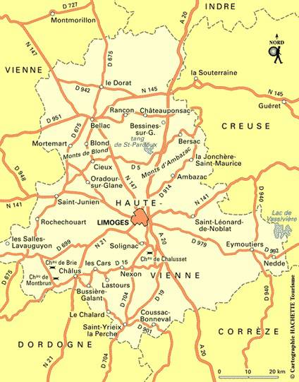 Haute vienne carte voyages cartes for 87 haute vienne carte