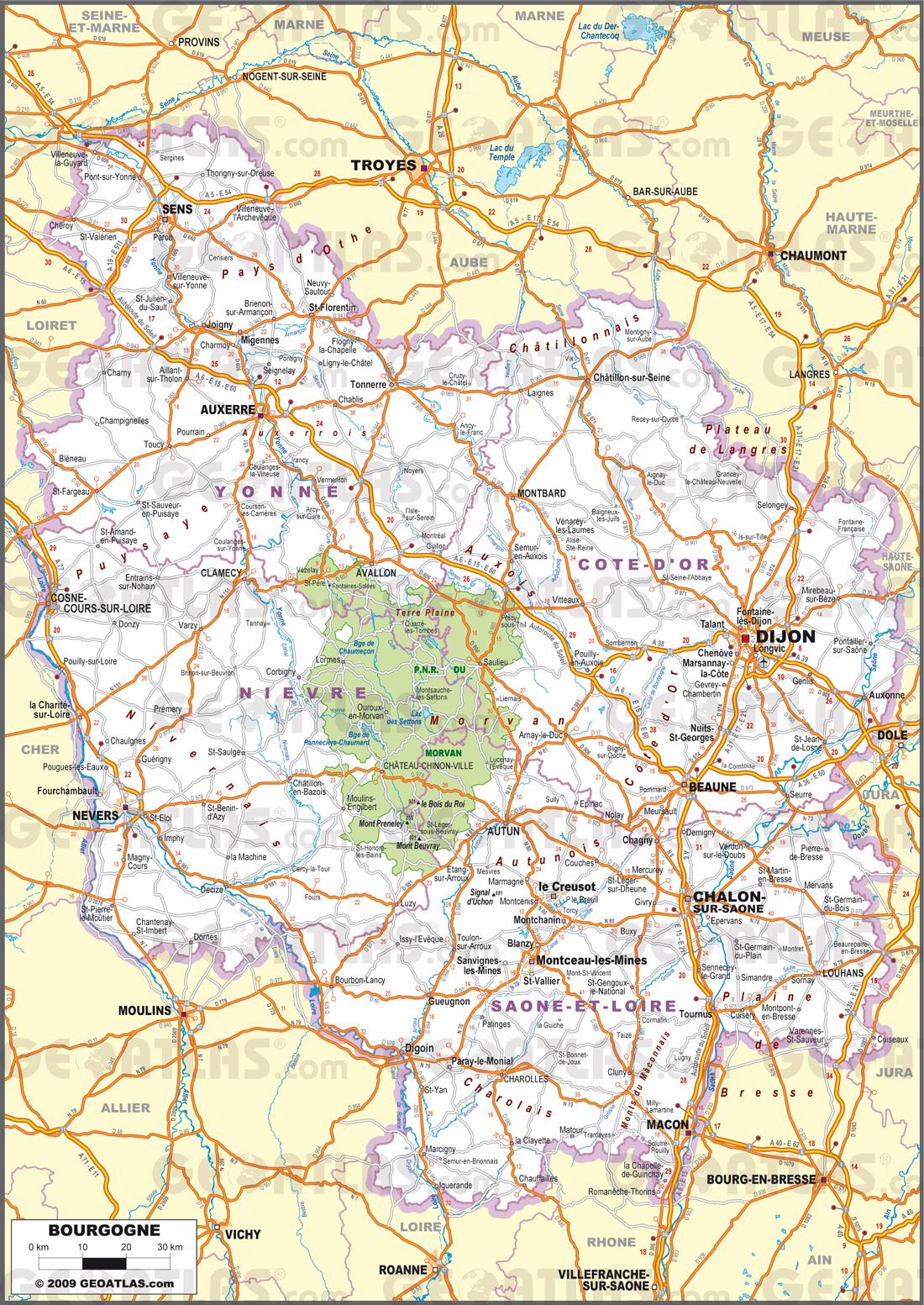 Carte De Bourgogne Michelin.Carte De La Bourgogne Decouvrir La Region Avec Des Cartes