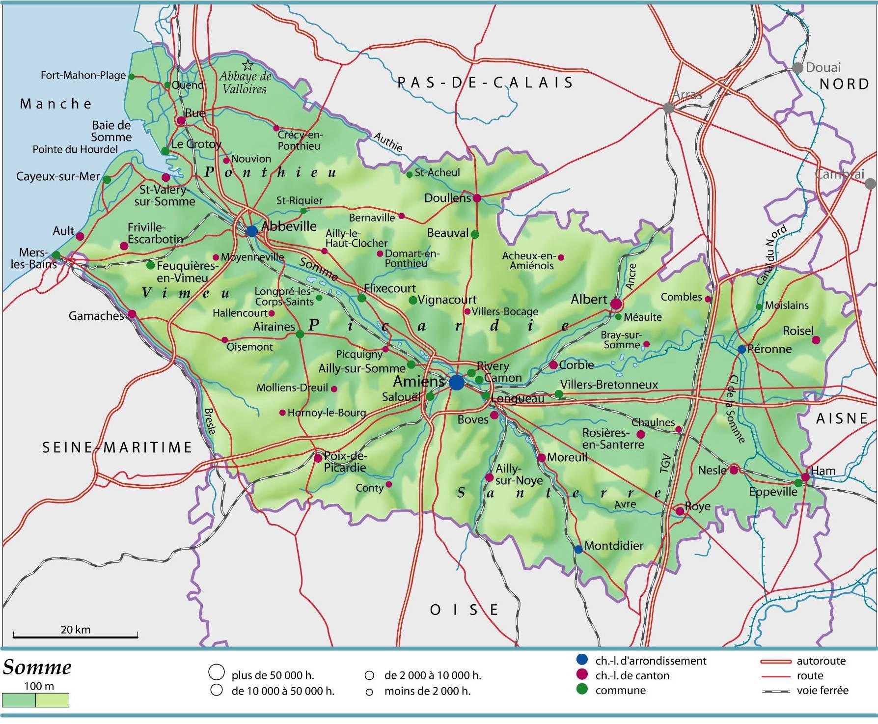 Carte de la Somme