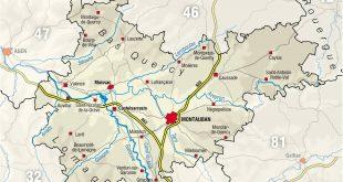 Carte du Tarn-et-Garonne