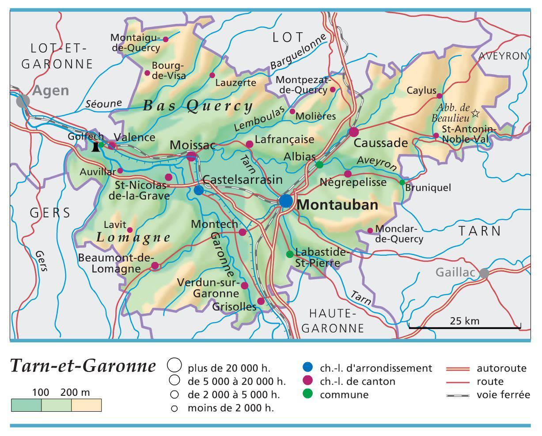 Carte du Tarn-et-Garonne - Politique