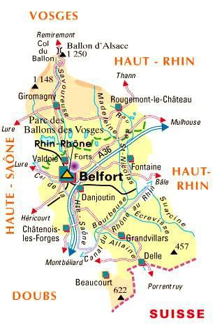 Carte du Territoire de Belfort - Politique