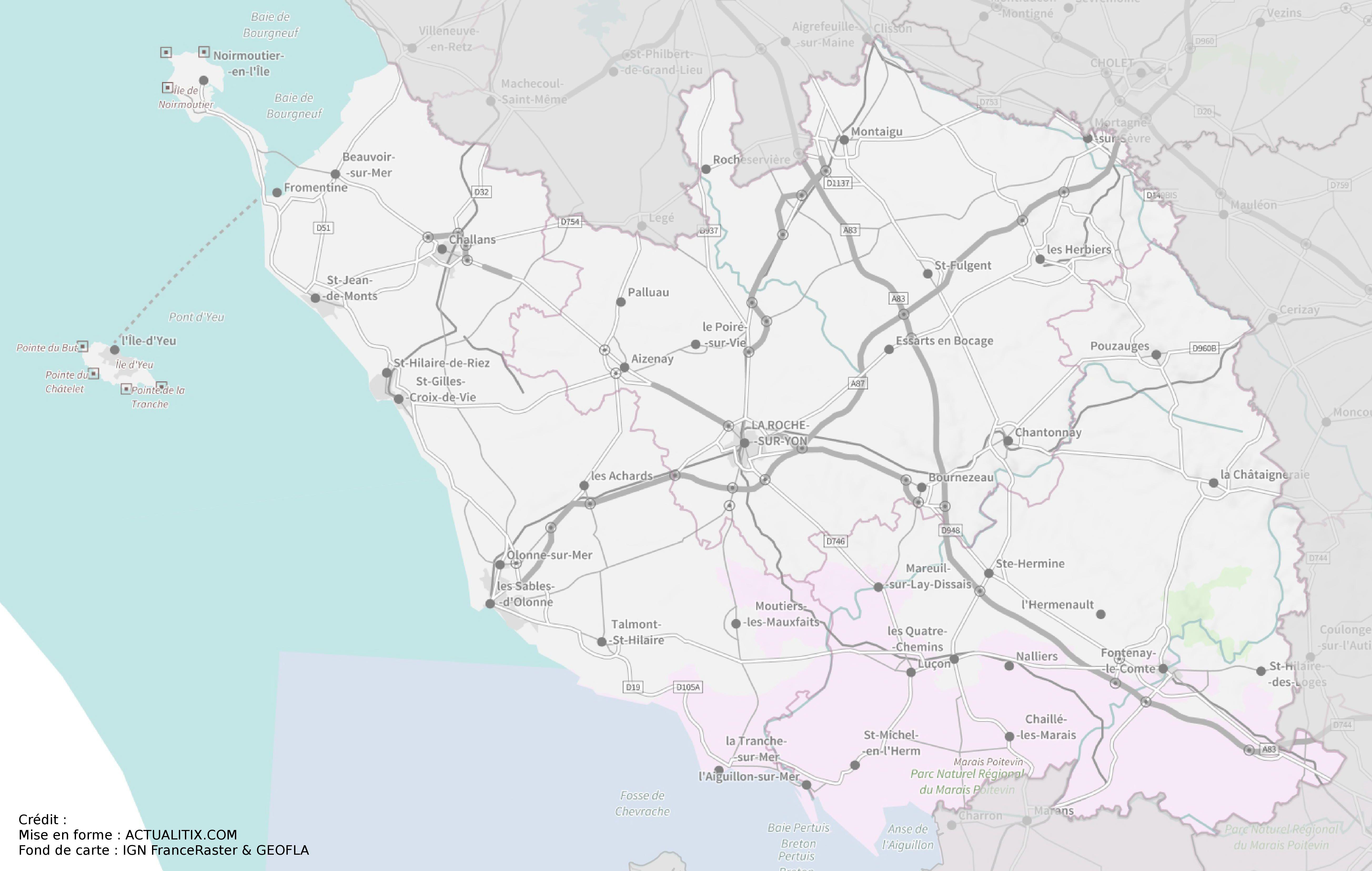 Carte De La Vendée Cartes Sur Les Villes Relief Sites Touristiques Littoral