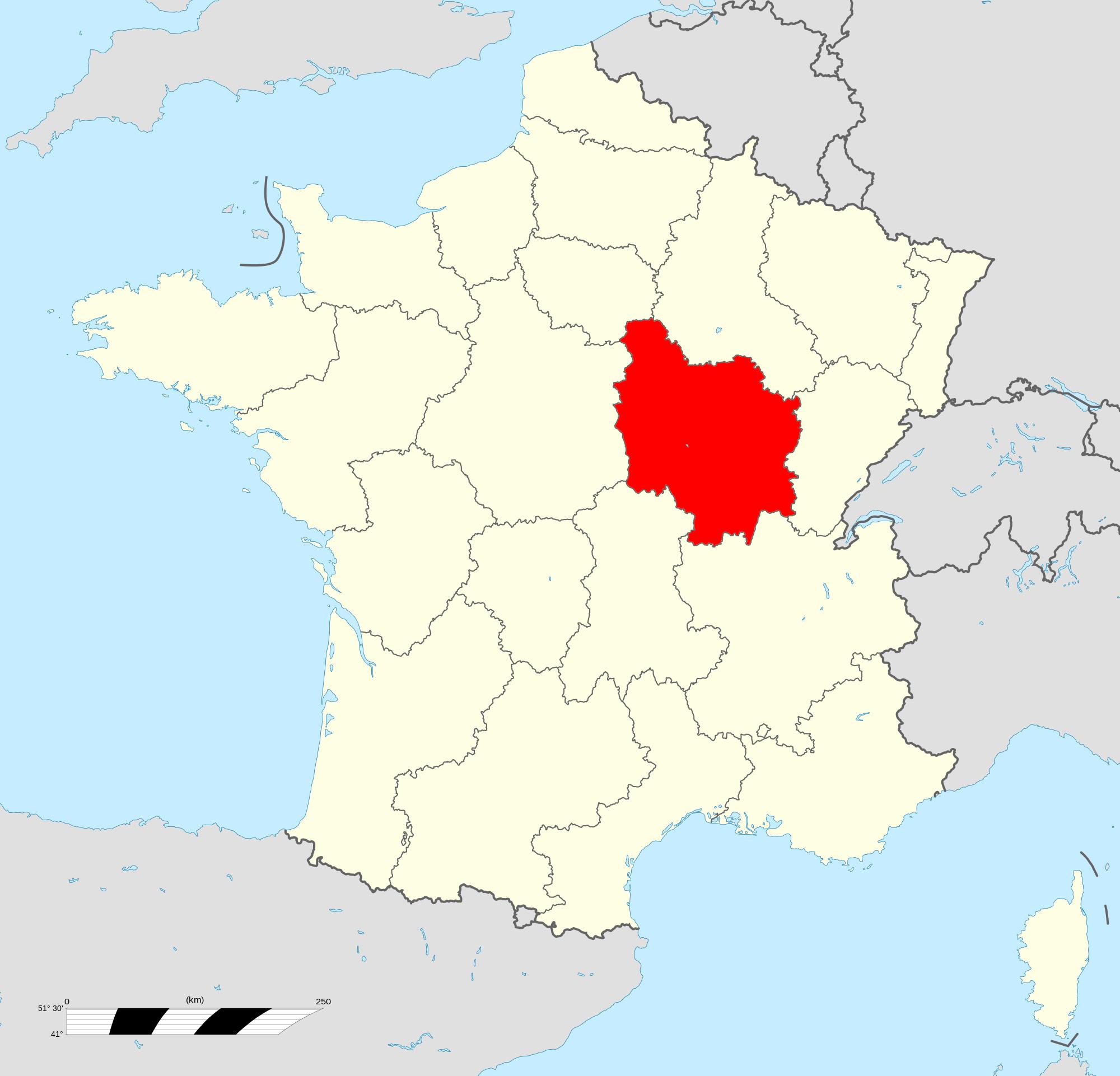 Où se trouve la Bourgogne en France ?