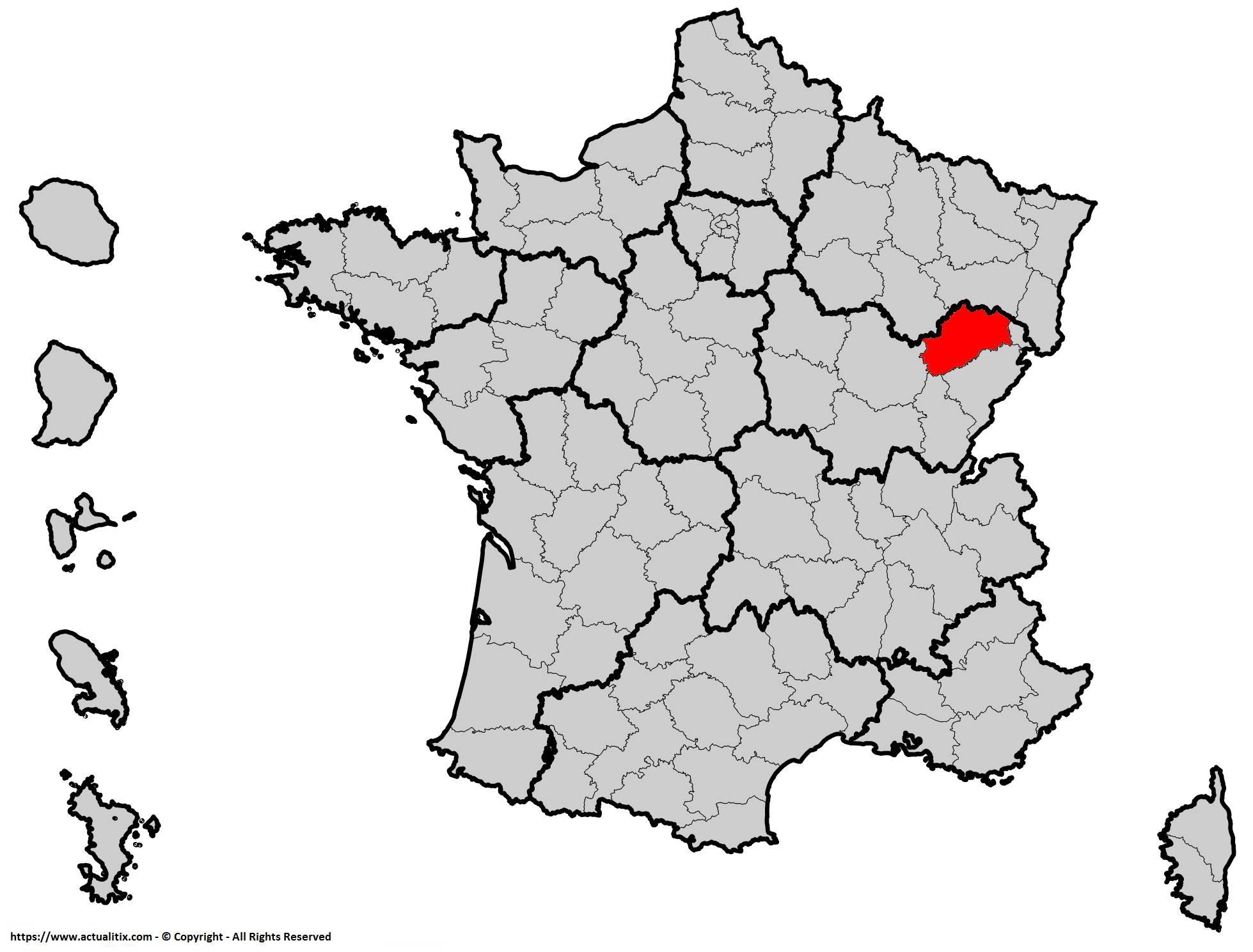 Où se trouve la Haute-Saône en France ? Département 70