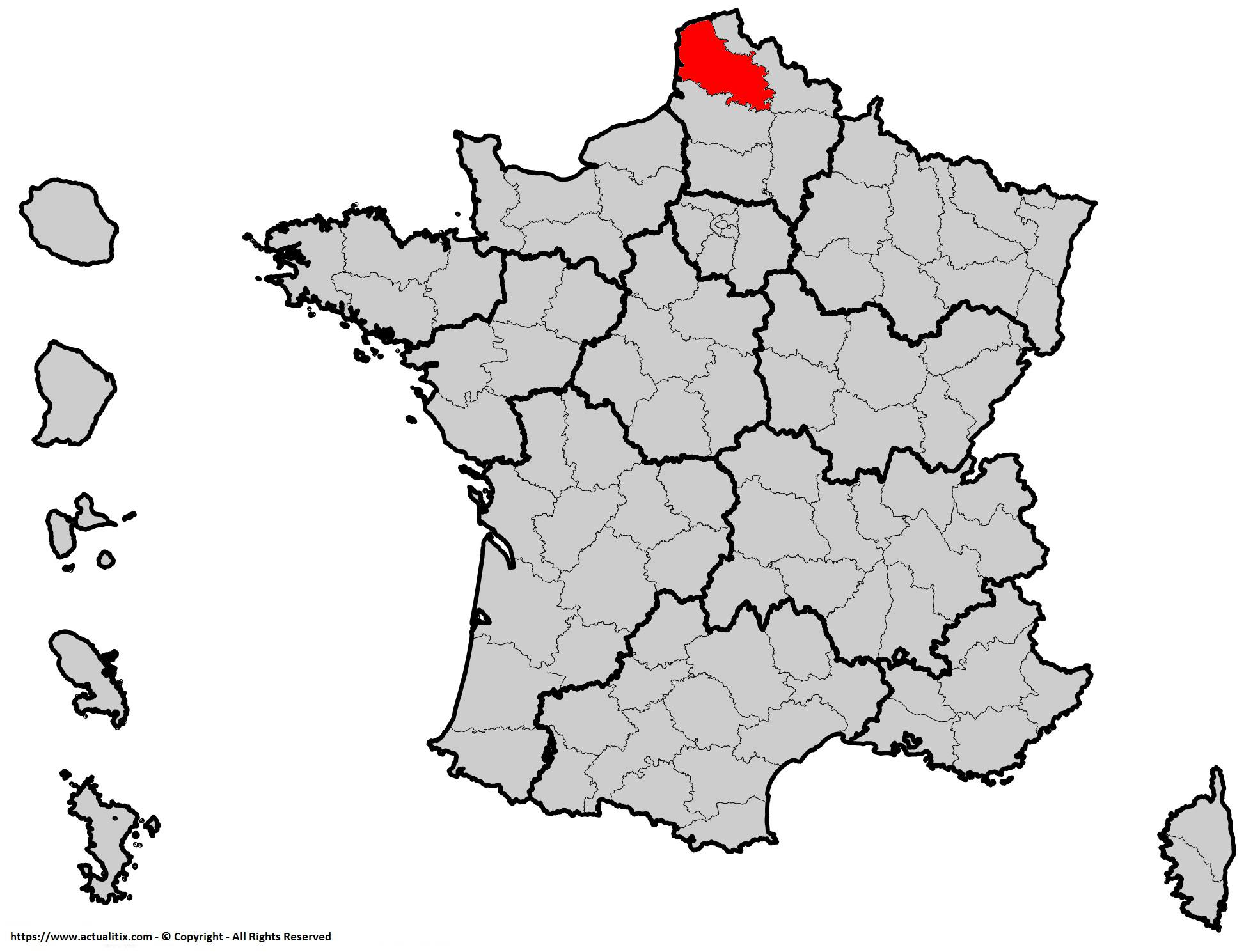 Où se trouve le Pas-de-Calais en France ? Département 62