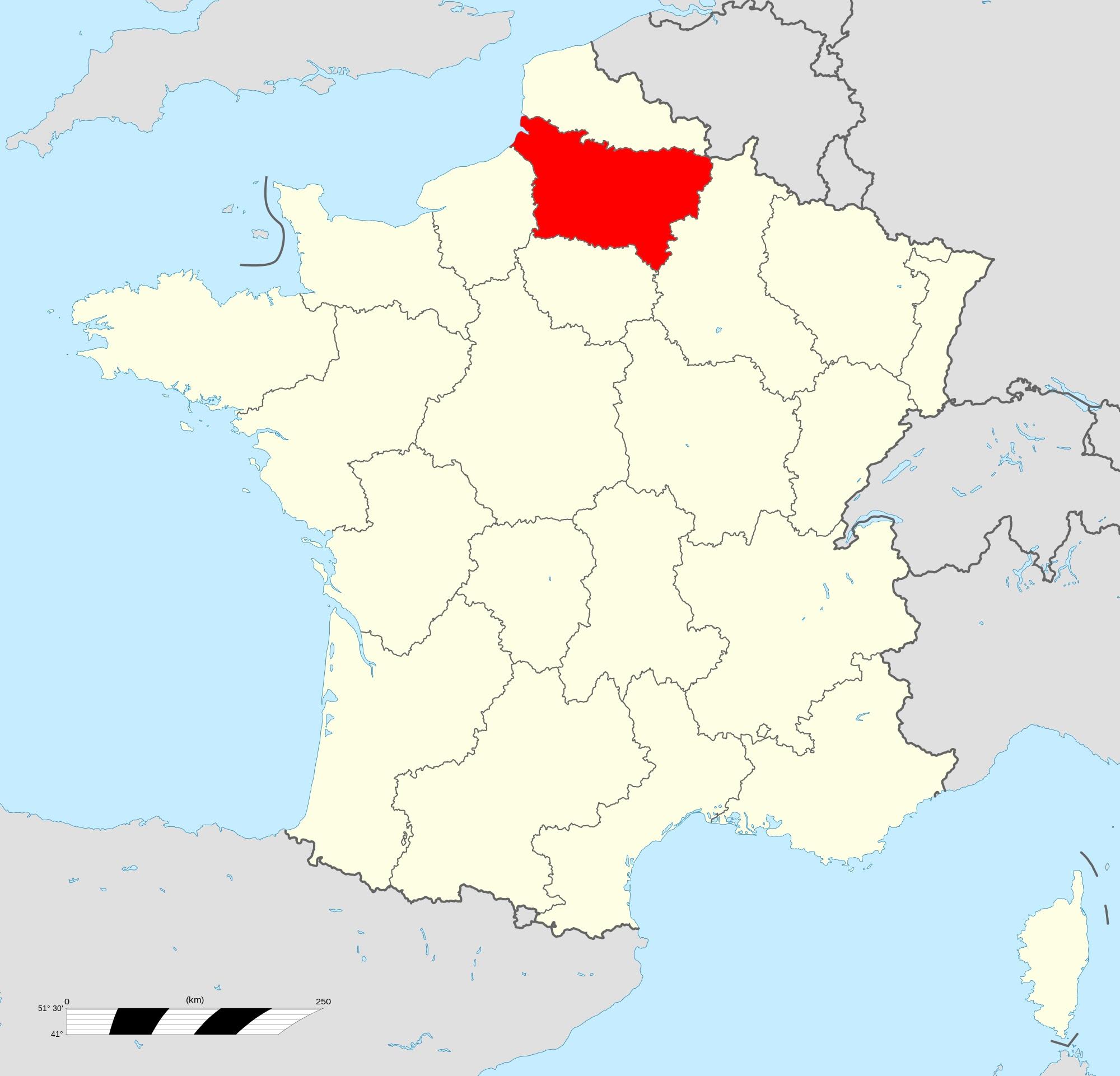 Où se trouve la Picardie en France ?
