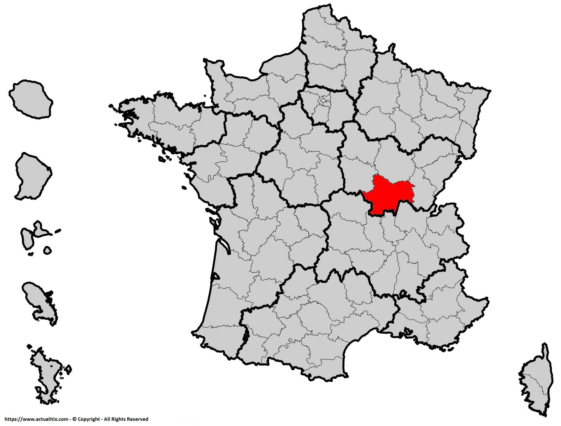 Où se trouve la Saône-et-Loire ? Département 71
