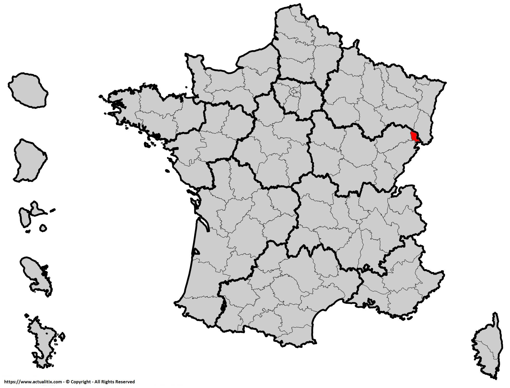Où se trouve le Territoire de Belfort en France ? Département 90