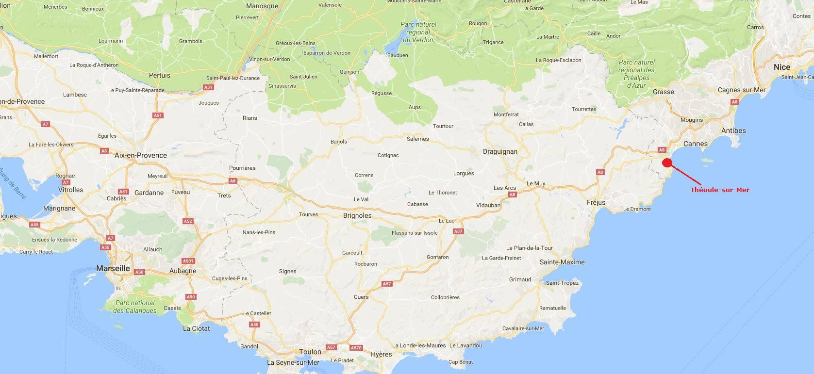 Où se trouve Théoule-sur-Mer sur une carte ?