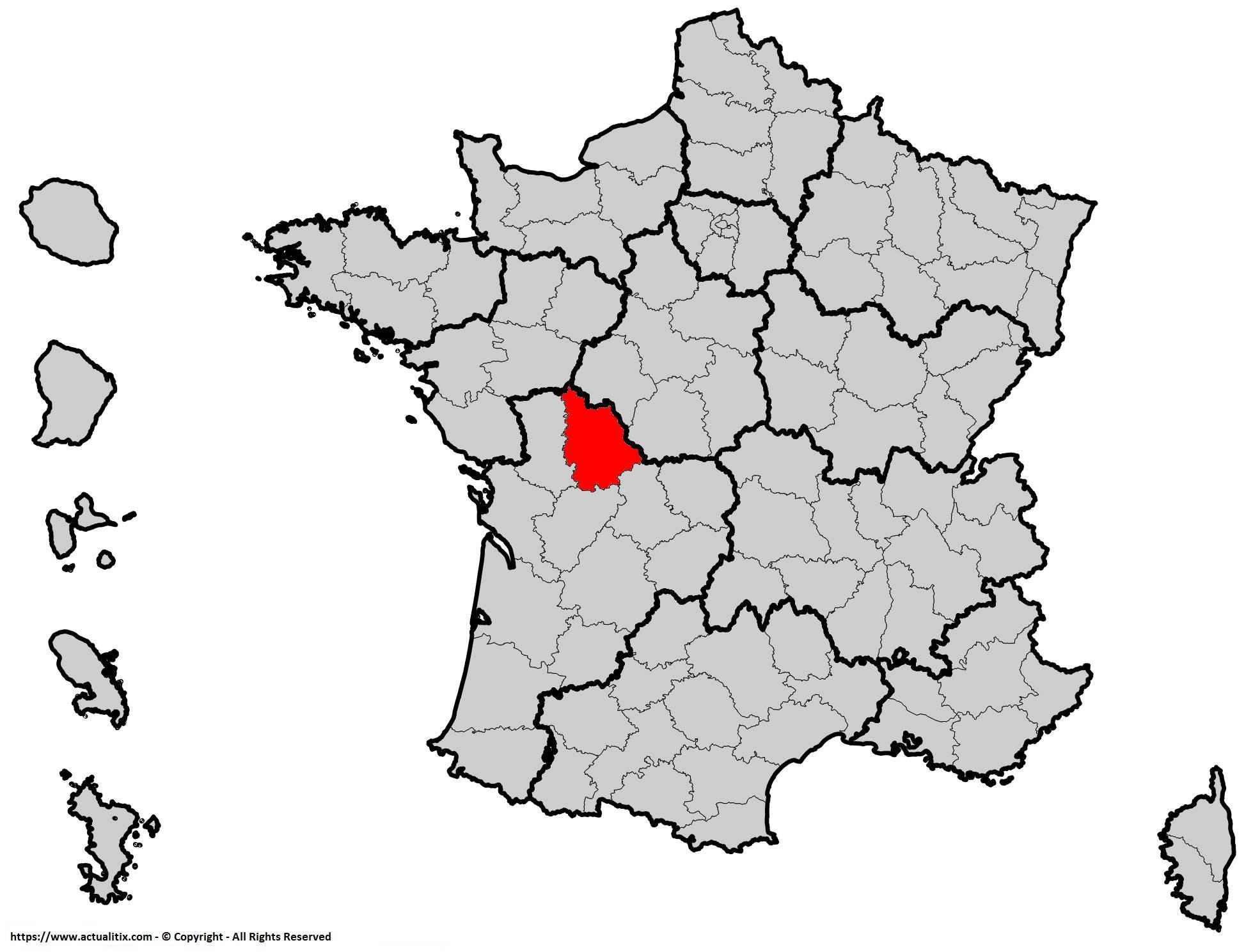 Où se trouve la Vienne en France ? Département 86