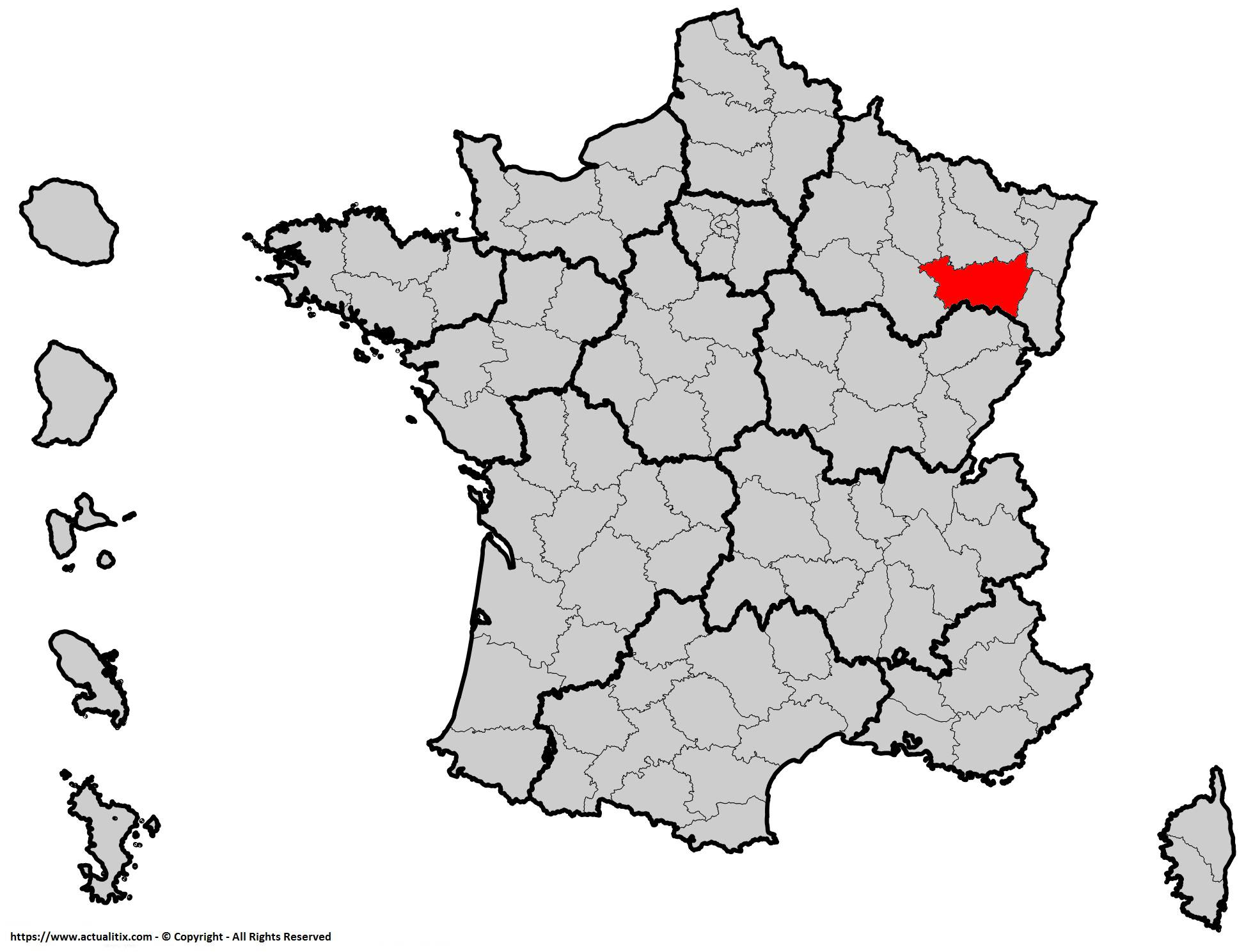 Où se trouve les Vosges en France ? Département 89