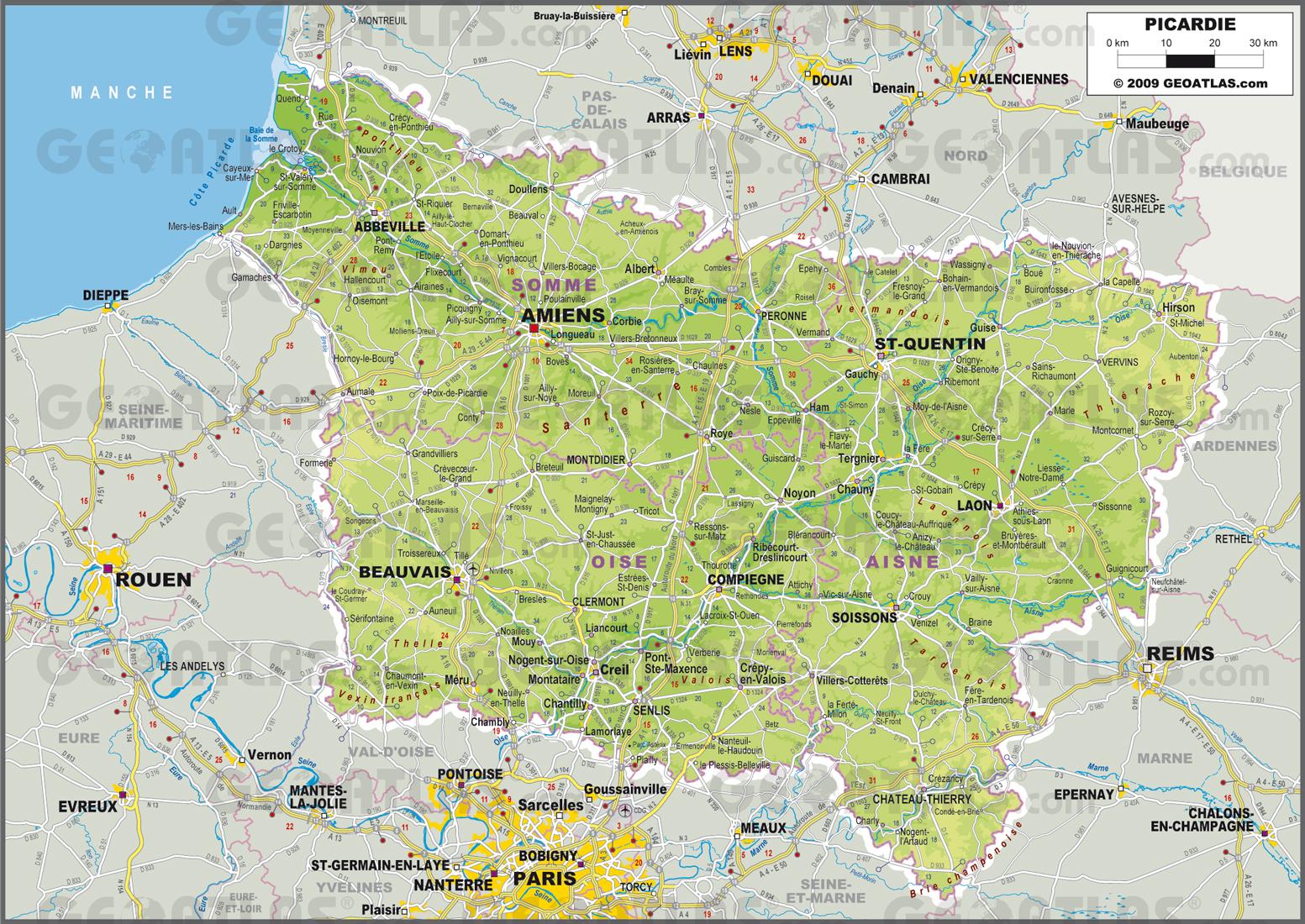 Picardie carte