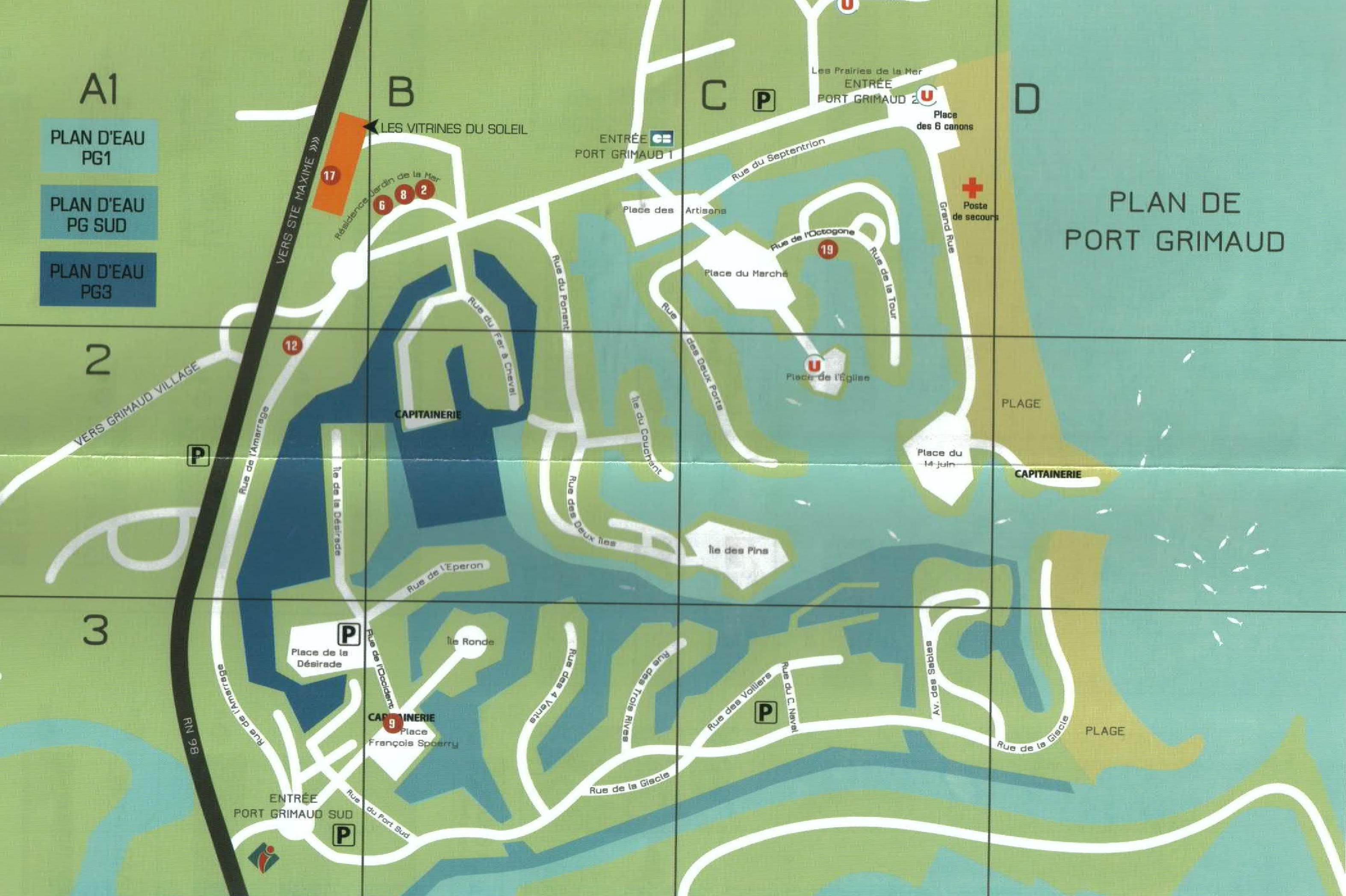 Plan de Port Grimaud