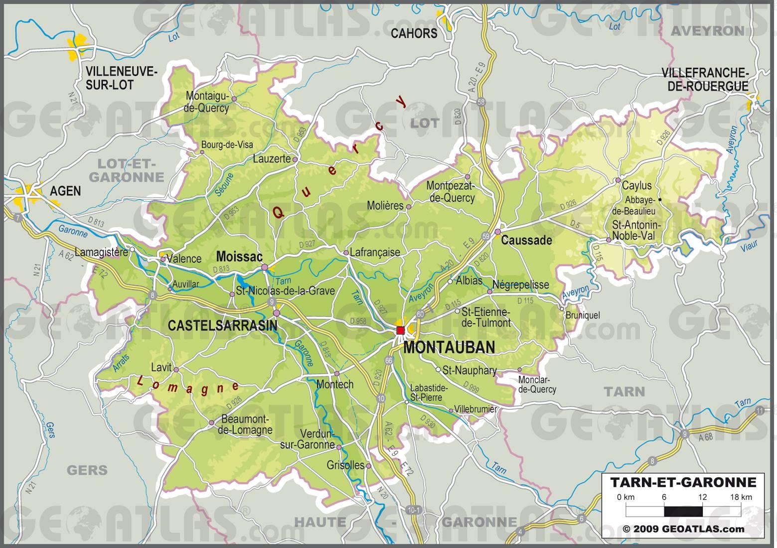 Tarn-et-Garonne carte