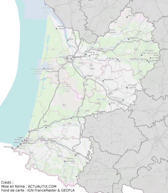 Aquitaine carte