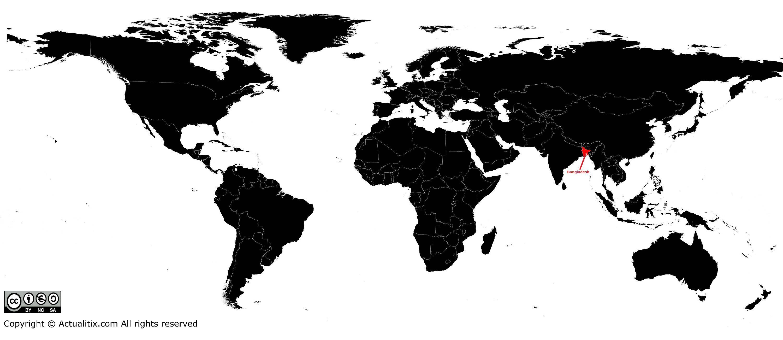 Bangladesh sur une carte du monde
