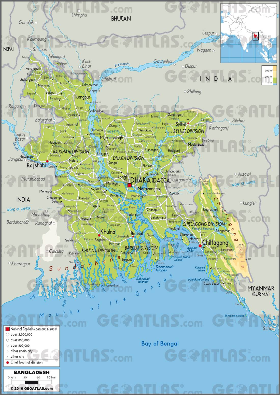 Bangladesh carte